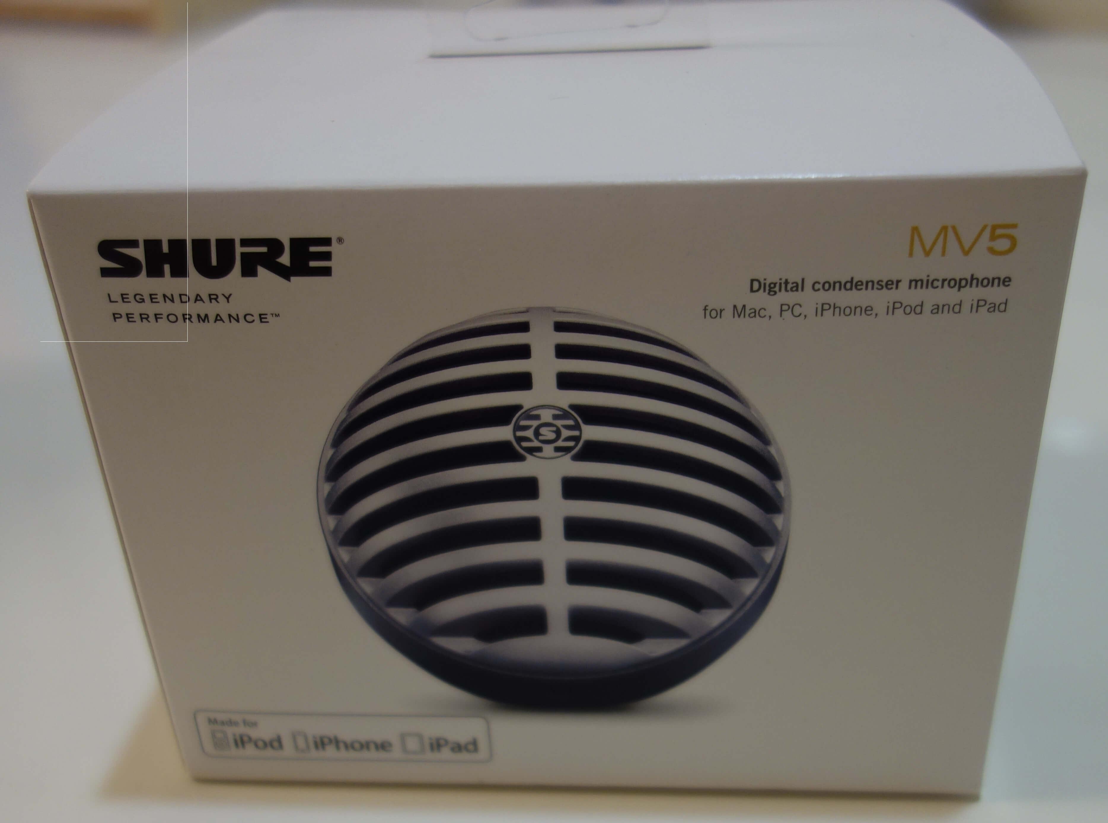 SHURE MV5(デジタルコンデンサーマイク)