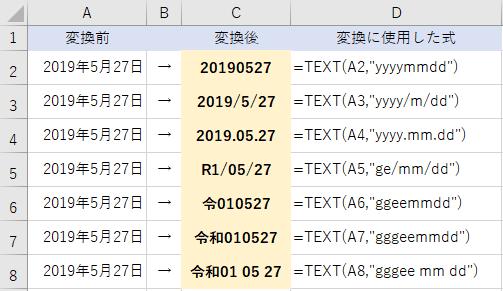 エクセルで日付データを文字(テキストデータ)に変換する方法
