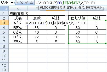 VLOOKUP関数イメージ1