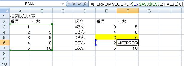 VLOOKUP関数で#N/Aを0表示にする方法